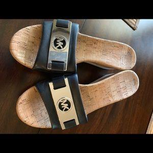 Michael Kors wedge slip on sandal. Size 8
